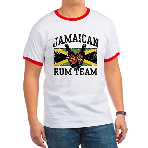 CafePress - Jamaican Rum Team Ringer T - Ringer T-Shirt, 100% Cotton Ringed T-Shirt, Vintage Shirt - Ringer Drinking T-shirt Team