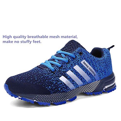 Compétition 35 running femme bleu Trail Bleu 46 sport homme course ete chaussures Noir Baskets entraînement Basket de Rouge 1UZpq00w