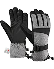 Andake Ski Gloves for Women, 3M Thinsulate Warm Gloves, Touchscreen Winter gloves, Waterproof Membrane Layer & Adjustable Cuff, Best for Riding, Snowboarding, Skiing and other Winter Sports