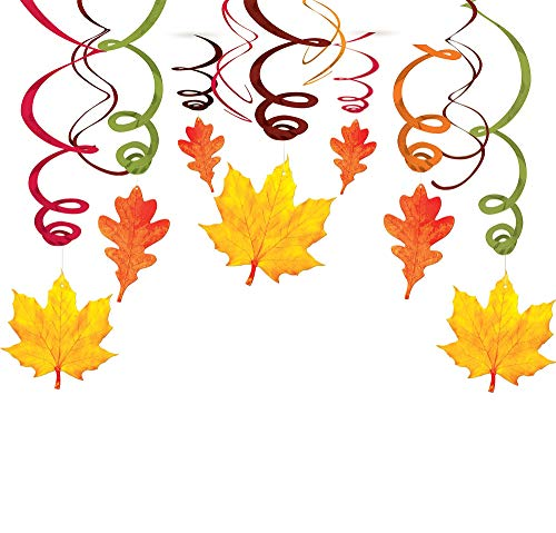 Fall Plastic Swirl Hanging Decoration -