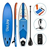 Uenjoy Inflatable Stand Up Paddle Board (6 Inches Thick) Non-Slip Deck Adjustable Paddle Backpack,Pump, Repairing kit
