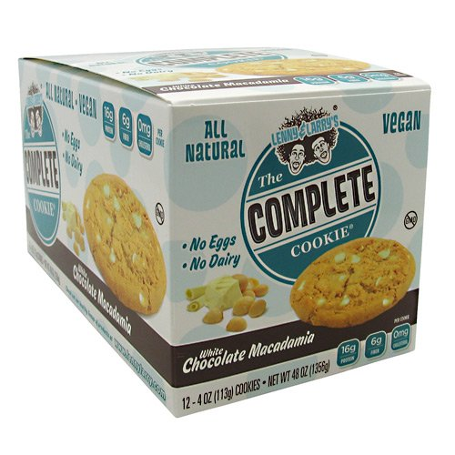 Lenny & Larry's All-Natural Complete Cookie - White Chocolate Macadamia - 12 per Box - 4 oz Cookies