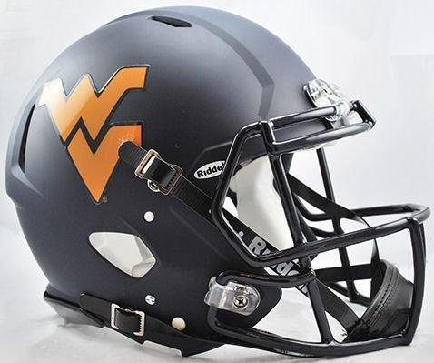 West Virginia Helmet - Riddell Sports NCAA West Virginia Mountaineers Speed Authentic Helmet, Black