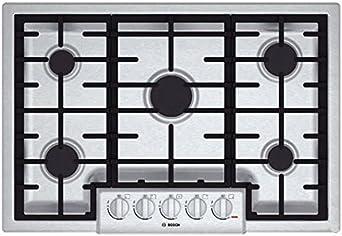 Bosch 800 Series 30 Stainless Steel 5 Burner Gas Cooktop