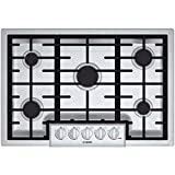 "Appliances : Bosch NGM8055UC 800 30"" Stainless Steel Gas Sealed Burner Cooktop"