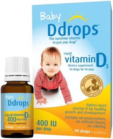 Ddrops Baby 400 IU, Vitamin D, 90 Drops 2.5mL (0.08 Fl. Oz (Pack of 1))