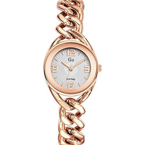 GO Girl Only - 695013 - Reloj Mujer - Cuarzo Analógico - Reloj Plata - Pulsera Acero Rosa: Amazon.es: Relojes