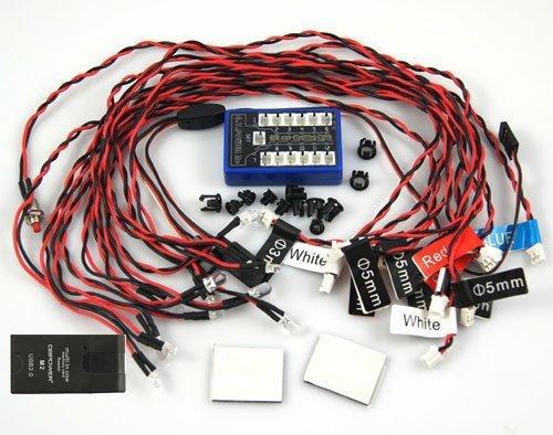 - Soondar® 12 LED 4 operation modes Multi-color RC Car Flashing Light Lamp System 4.8-6.0V