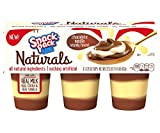 Snack Pack Naturals Chocolate Vanilla Swirl Pudding Cups, 6 Count, 8 Pack