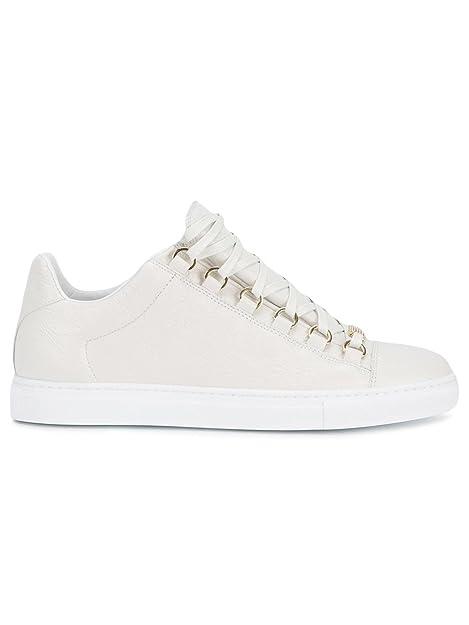 Balenciaga Mujer 454501Wad409008 Blanco Cuero Zapatillas: Amazon.es: Zapatos y complementos
