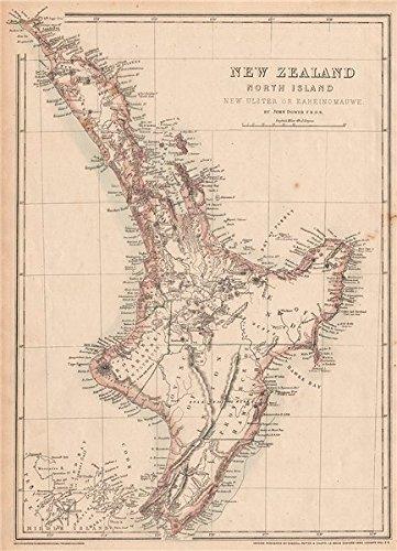New Zealand Provinces Map.New Zealand North Island New Ulster Or Eaheinomauwe Provinces