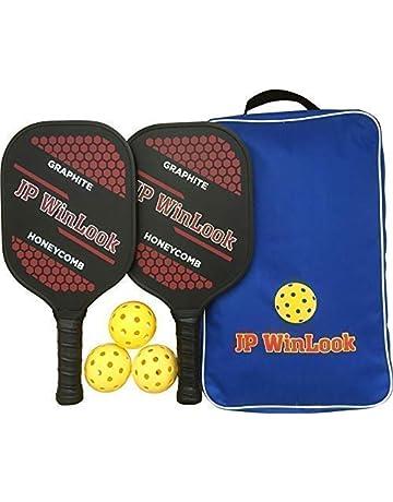 JP WinLook Pickleball Paddle Set - 2 Premium Graphite Rackets Honeycomb  Composite Core 3 Balls a23309c675eab