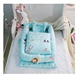 Cotton Detachable Baby Nest,Quilt and Pillow for 0-24 Months Baby (Animals)