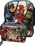 Marvel Avengers Iron Man Captain America Kids Backpack with Lunch...