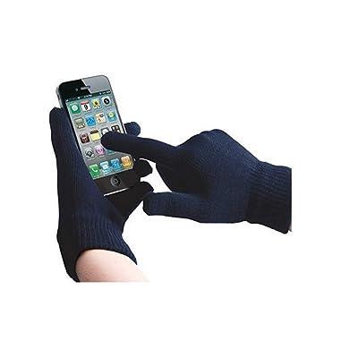 ONX3 XOLO A700s (Bleu Foncé) Gants Unisexe Taille Universal d'hiver Pour écran Tactile Pour Tous les Smartphones / Tablettes