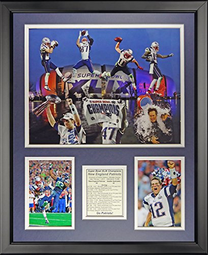 Legends Never Die New England Patriots 2014 Superbowl XLIX Champions Framed Photo Collage, 16