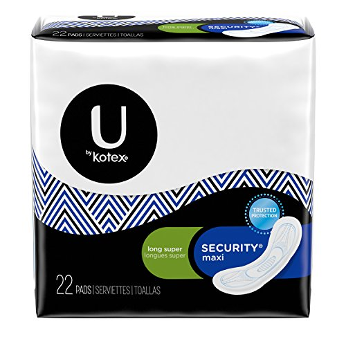 Kotex Natural Balance Maxi, Long  Super Security Maxi Pads, 22 (Kotex Regular Maxi Pads)