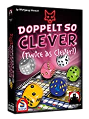 Twice as clever (doppelt so clever) follows the model of acclaimed game that's pretty clever (Ganz schön clever), and it is designed by the same, award-winning designer, Wolfgang warsch! But you'll need to be twice as clever to rack up those ...