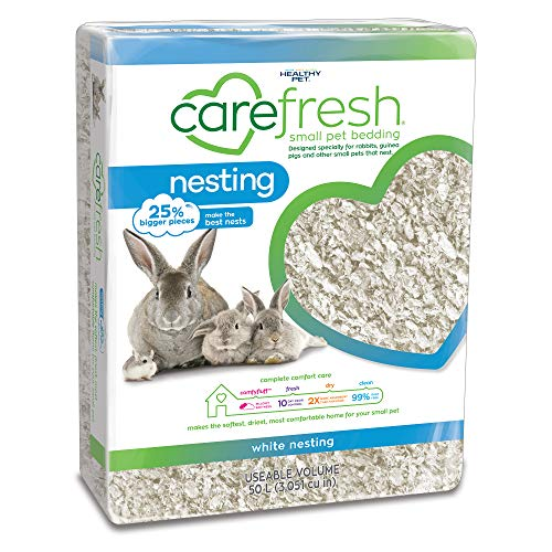 Carefresh White Nesting Small pet Bedding, 50L (Pack May Vary) ()