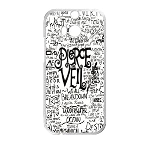 Hoomin Simple Fashion Pierce the Veil Quotes HTC One M8 Cell Phone Cases Cover Popular Gifts(Laster Technology)