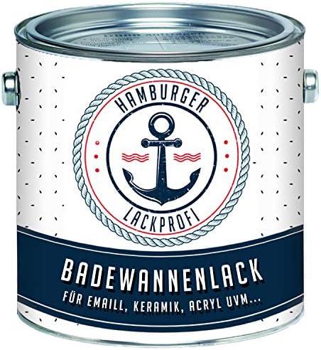 Badewannenlack GLÄNZEND FARBAUSWAHL Badewannenbeschichtung Emaille Farbe // Hamburger Lack-Profi (1 L)