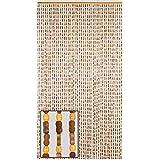 "BeadedString Wood Bamboo Beaded Curtain-45 Strands-77 High-35.5"" Wide-Bohemian Door Beads-SunshineBr"