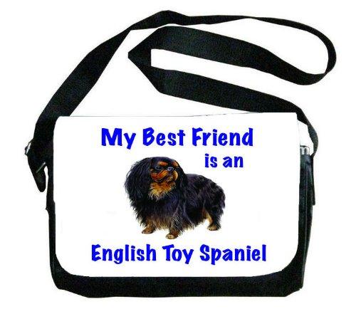 My Best Friend is English Toy Spaniel Messenger Bag