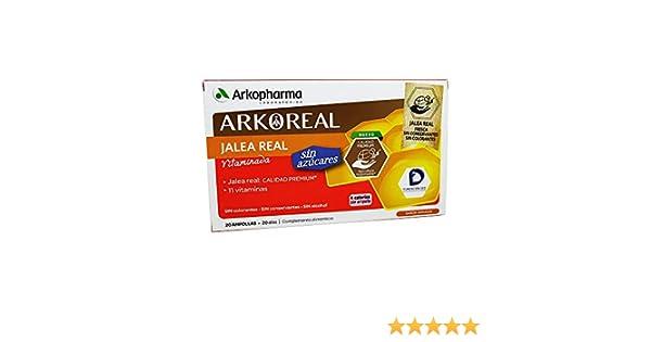 Arkopharma Jalea Real Vitaminada sin Azúcar, 20 Ampollas: Amazon ...