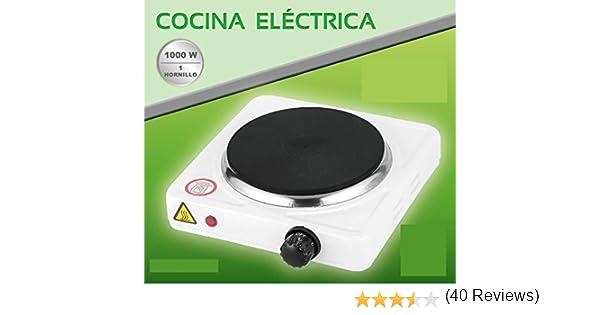 COCINA ELECTRICA HORNILLO 1000W 1 FUEGO PLACA ELECTRICO CAMPING ...