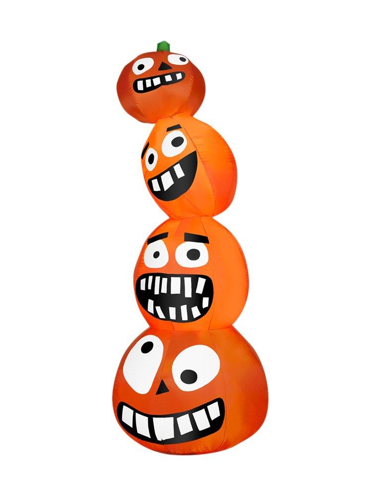 Gemmy 54817 Airblown Funny Pumpkin Stack-OPP
