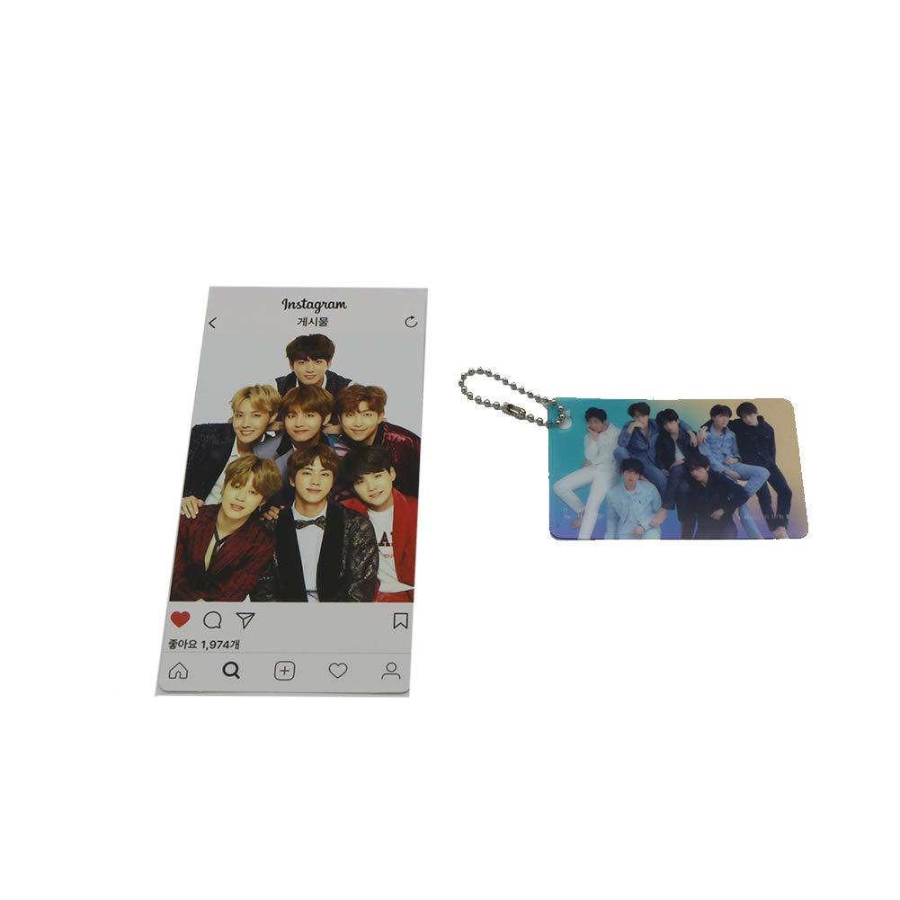 BTS Bangtan Boys Desk Calendar with Photo card with Key ring and Instagram card: Amazon.es: Oficina y papelería