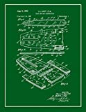 Chain Saw Bar Construction Patent Print Art Poster Green with...