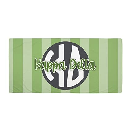 CafePress – Kappa Delta letras rayas – toalla de playa de gran tamaño, suave toalla