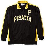 MLB Pittsburgh Pirates Men's Tricot Poly Track Jacket, X-Large Tall, Black/Gold