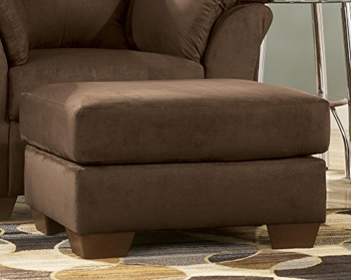 Ashley Furniture Signature Design - Darcy Ottoman - Ultra Soft Upholstery - Contemporary - Cafe (Miles Storage Ottoman Bench)