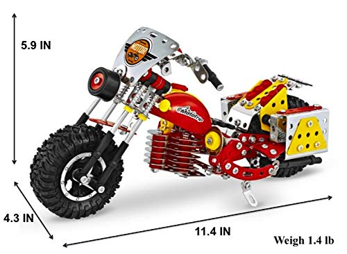 Metal Building Blocks Model Kit Bike Mini Motorcycles STEM Mechanical Engineering Educational Learning Brain Teasers Erector Set for Adults Age Kids 8+ Boys Birthday Gift