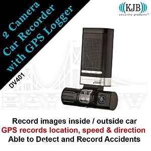 2 Camera Car Recorder with GPS Logger