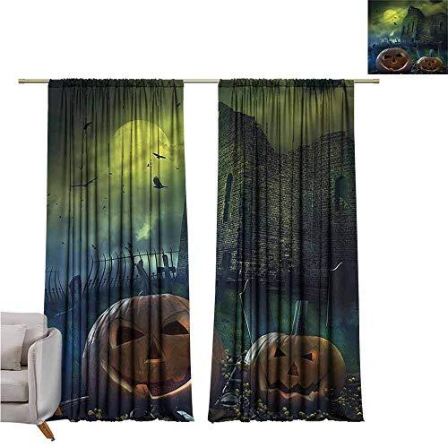 zojihouse Halloween Awning Room Darkening Curtain 55