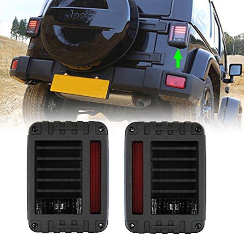 LED Tail Light for Jeep Wrangler JK Brake Reverse Turn Singal Lamp Back Up Rear Parking Stop Light Daytime Running Bulb DRL