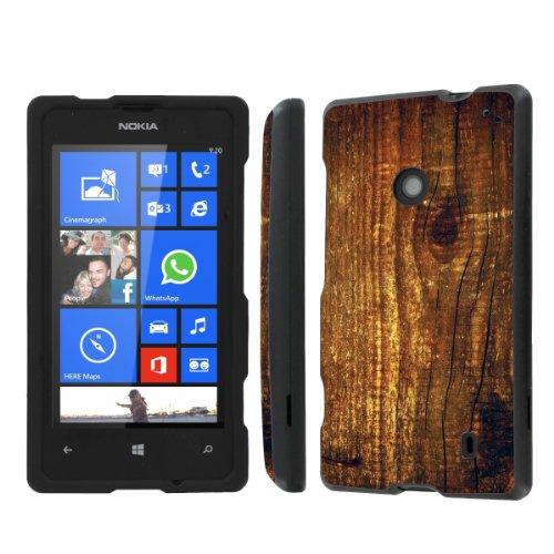 NakedShield Nokia Lumia 635 (Wood Print) Total Hard Armor Protection LifeStyle Phone Case