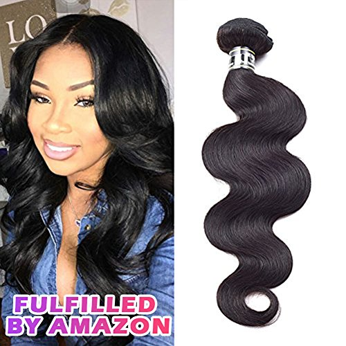 Star Show Hair Brazilian Body Wave Single Bundle Grade 7A Unprocessed Virgin Human Hair Extension Can Be Dyed and Bleached Brazilian Hair Weave Bundle (8 inch)