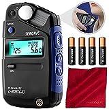 Sekonic L-308X-U Flashmate Light Meter W/4 AA Batteries and FiberTique Cloth