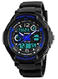 Boys Watch, Kids Teens Boys Waterproof Sports Digital Analog Watches Timepiece with Soft Rubber Band