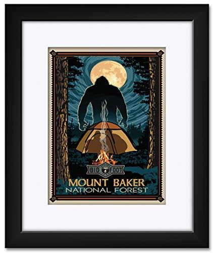 Bellingham Washington Bigfoot Research Team Framed & Matted Art Print by Paul A. Lanquist. Print Size: 9