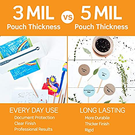 2-Pack 20 Pouches 3.7 Inches x 5.2 Inches Scotch Thermal Laminating Pouches
