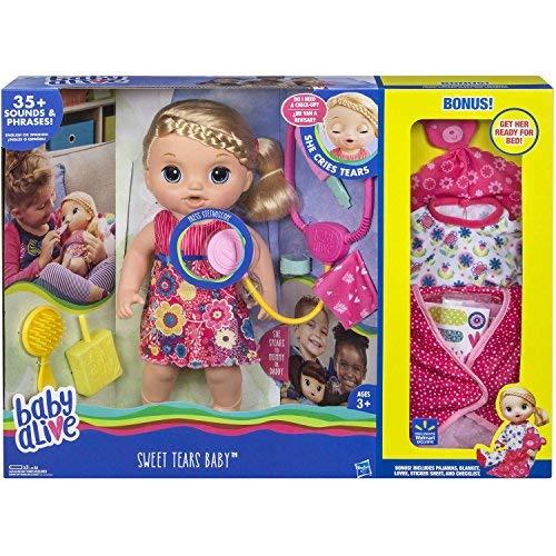 Baby Alive Sweet Tears Blonde Exclusive Value Bonus Pack