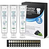Aprilis Charcoal Teeth Whitening Toothpaste Set, Natural Teeth Whitening with Mint Flavor, Fluoride & Peroxide Free