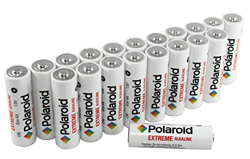 Polaroid AA Extreme Performance Alkaline Batteries (20-Pack) 1.5 Volt - 1.5v Dc Aa Pack