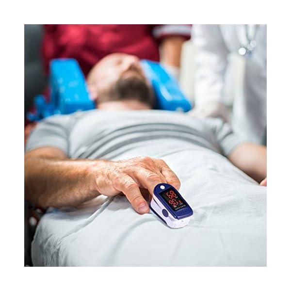 Pulsómetro Digital Oxímetro de Pulso Pulsioxímetro de Dedo con Pantalla LED, Monitor de Frecuencia Cardíaca y Medidor de… 12