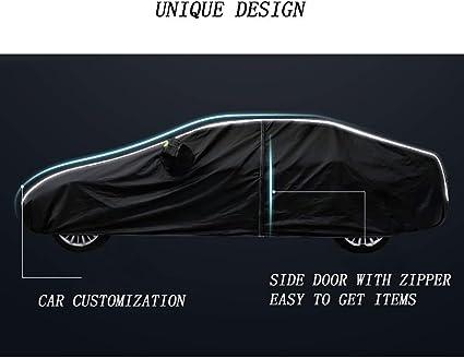 Viento Lluvia y Rasgu/ño Universal SJQRF Funda para Coche Funciona con Ferrari 458 Exterior Cubierta de Coche//Universales Impermeable Resistente al Sol Polvo